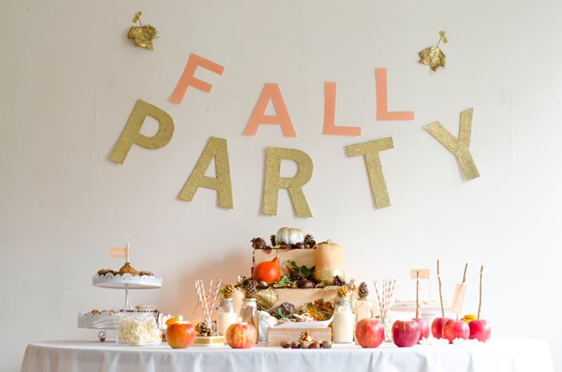 sweet table halloween pastel et paillettes